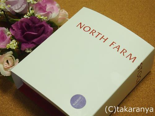 ノースファームストックのベイクドレアチーズケーキブルーベリーパッケージ