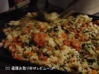 にんじんをたっぷり使った炒飯