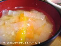 にんじんと大根の味噌汁