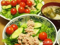 キュウリとプチトマトのサラダ