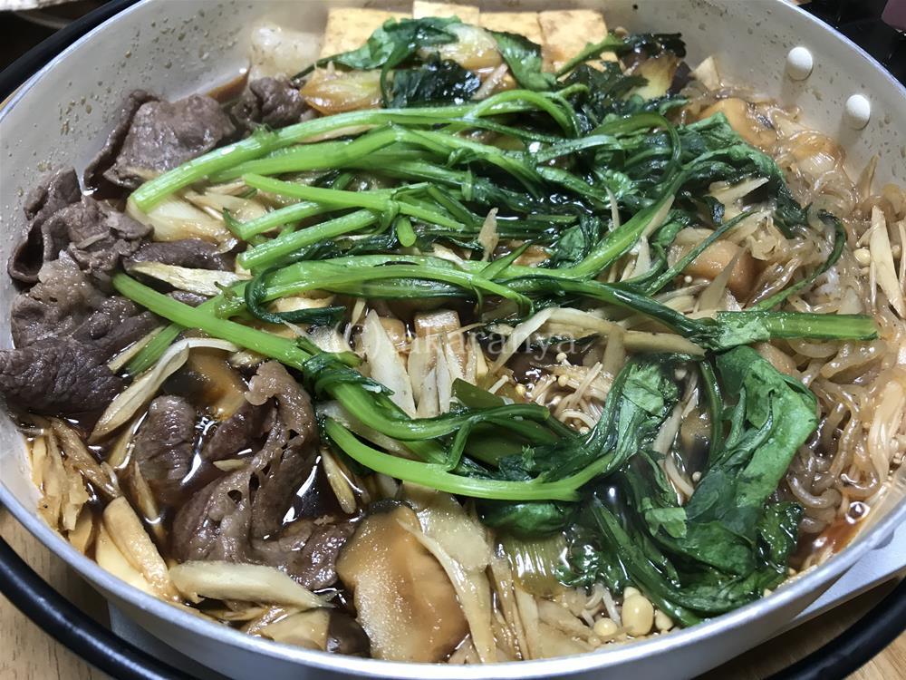 辰屋神戸牛しゃぶしゃぶ肉を使ったすき焼き